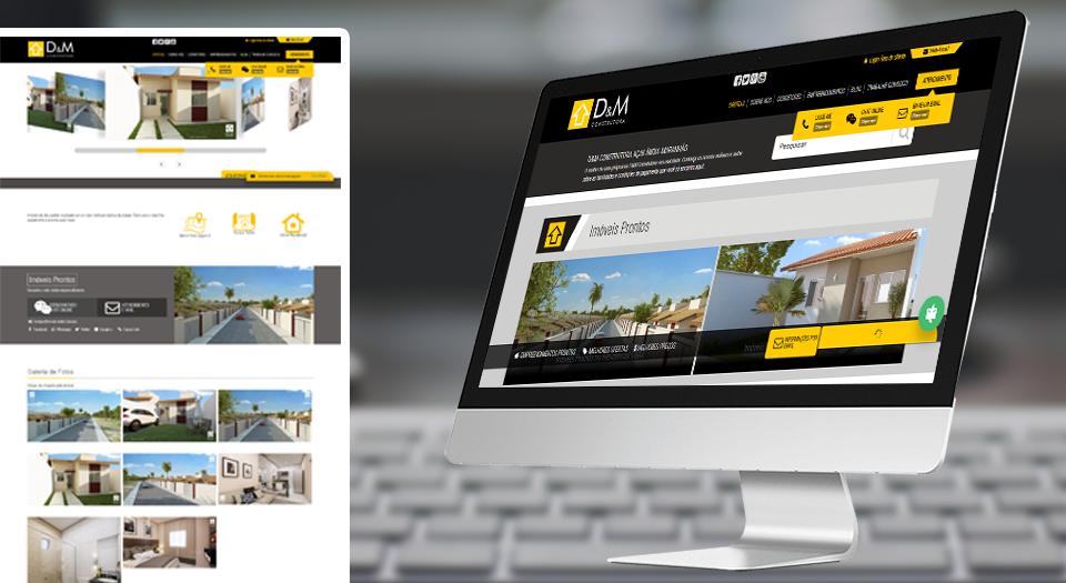 Web Site D&M Construtora
